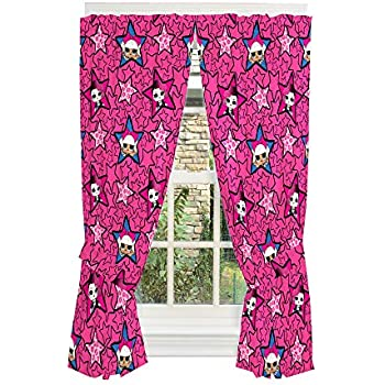 LOL Surprise Curtain Panels Window Drapes Set Girls Kids Bedroom Pink Washable