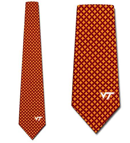 Virginia Tech Tie - Virginia Tech Hokies Ties Mens Diamante Necktie by Eagles Wings