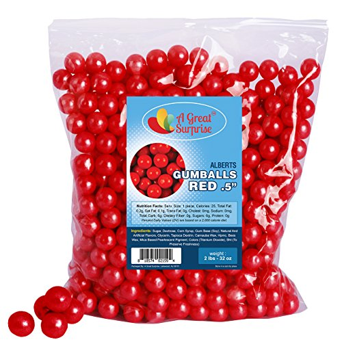 ed Gumballs for Candy Buffet - Mini Gumballs 1/2 Inch , Bulk Candy 2 LB (1/2 Inch Candy)