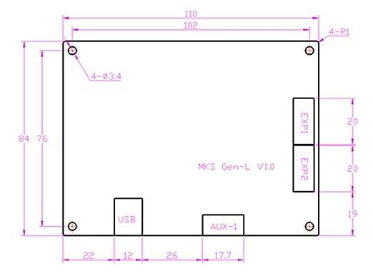 Kit de placa base para impresora 3D MKS GEN L+ MKS TFT35 V1.0 de 3 ...