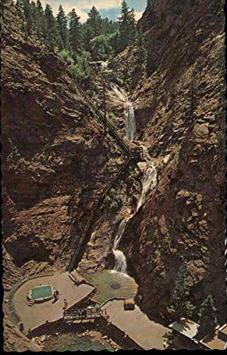 Seven Falls in South Cheyenne Canon Colorado Springs, Colorado Original Vintage Postcard ()