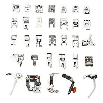32 pcs Mini para máquina de coser trenzado de punto de ciegos zurcir prensatelas para juego