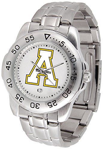 SunTime Appalachian State Mountaineers Sport Steel Band Men's Watch
