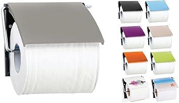 MSV Bad Serie UNI Toilettenpapierhalter WC Rollenhalter Papierhalter  Klopapierhalter Taupe Grau/Braun