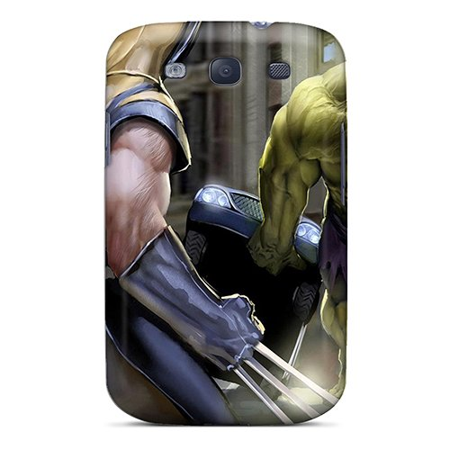 High-quality Durability Case For Galaxy S3(wolverine Vs Hulk)