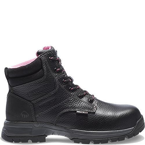 Wolverine Women's Piper Comp Safety Toe Boot,Black,8 M (Wolverine Black Boots)