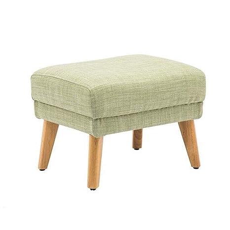 Wondrous Amazon Com Dffs Cotton Linen Footstool Ottoman Coffee Bralicious Painted Fabric Chair Ideas Braliciousco