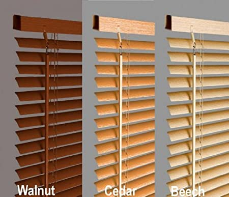 New 120cm Beech / Natural Wood Effect Pvc Venetian Blinds, AVAILABLE IN 10  SIZES AND
