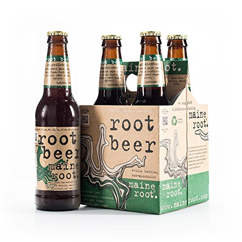 Maine Root Hand Crafted Root Beer Soda, 12 oz Glass Bottles (12 Pack) (Wintergreen Beer Root)