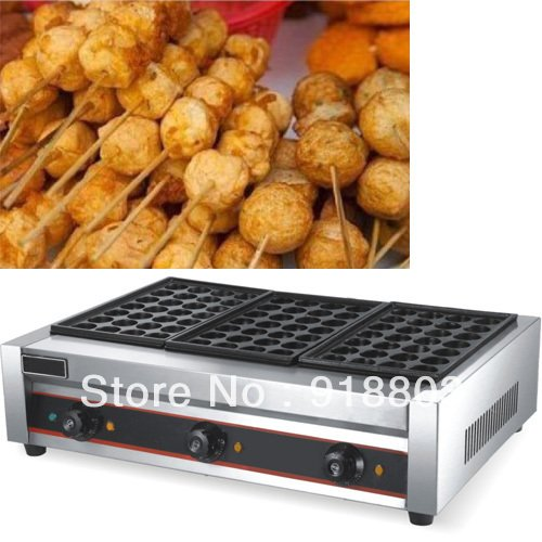 Triple-plate 220v Electric Japanese Tokoyaki Fish Ball Machine Baker Maker by ANGELGARDEN