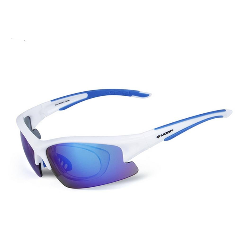 DZW Outdoorausrüstung Outdoor Sport Brille Set Reiten Brille polarisierte Sonnenbrille , pure Weiß