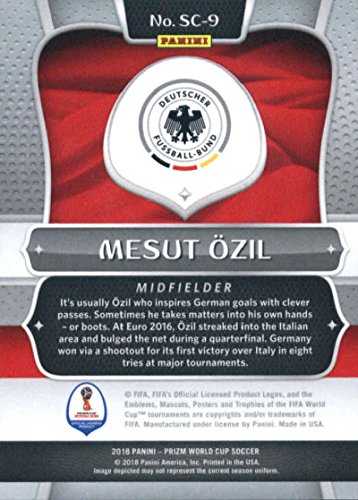2018 Panini Prizm Scorers Club #9 Mesut Ozil Germany Soccer Futbol World Cup Russia Card