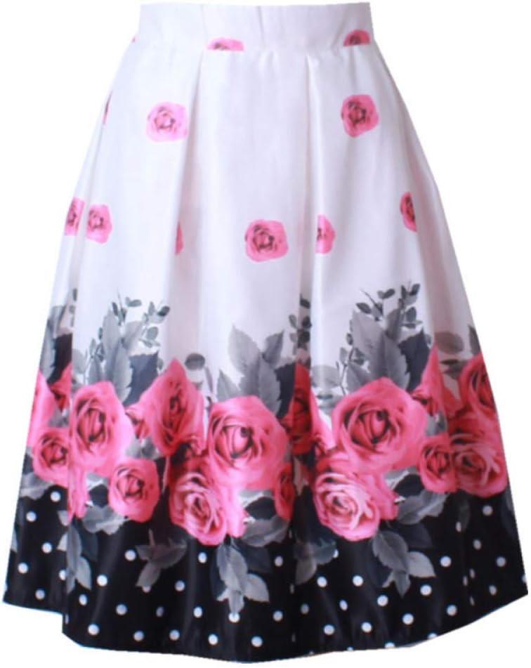 FSDFASS Faldas Moda Primavera Falda de satén Mujeres Vintage ...