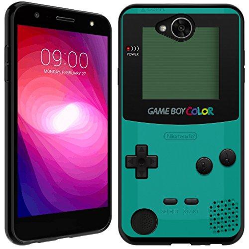 LG Fiesta case - [GameBoy Mint] (Black) PaletteShield Soft Flexible TPU gel skin phone cover (fit LG Fiesta/ X Charge/ X Power 2/ L63BL/ L64VL)