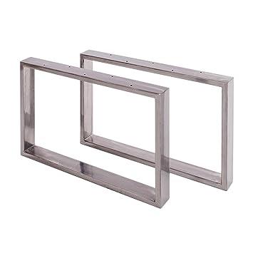 Sossai Tischgestell Couchtisch Untergestell Basic 2 Stuck Paar Material Stahl Breite 50 Cm X Hohe 40 Cm Ckk1 Is5040 2 Farbe Transparent