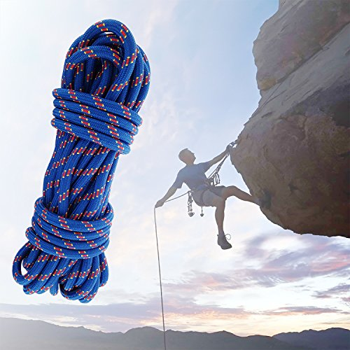 Safety Rock Climbing Rope, Perfessional Rappelling Auxiliary,15M(49ft) Diameter 10mm,100%Quality assurance New