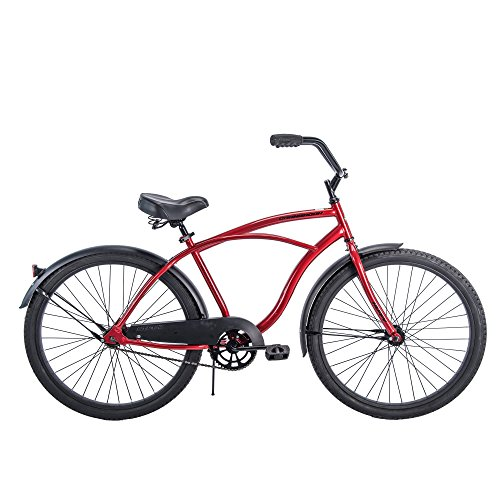Cheap 26″ Huffy Men's Cranbrook Cruiser Bike, Red