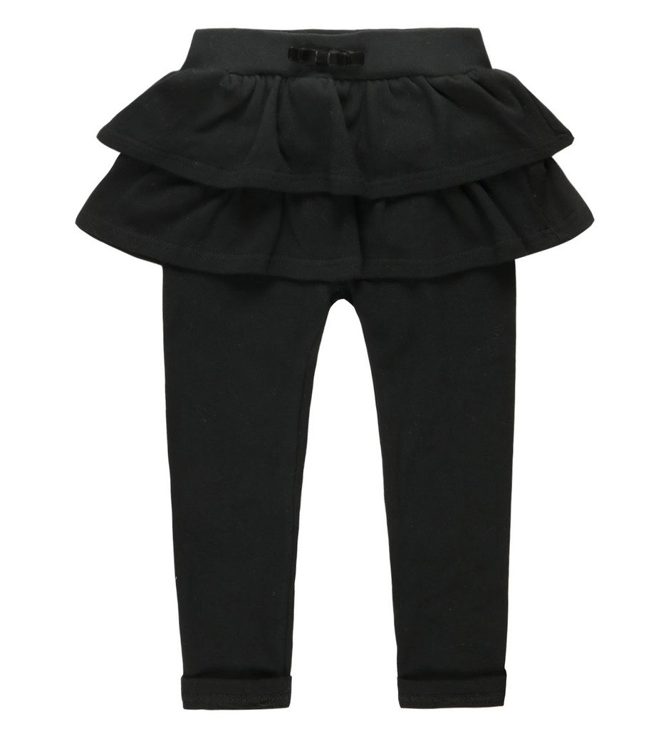 Coodebear Girls' Pantskirt Double Layers Bowknow Culottes Pants Black Size 7