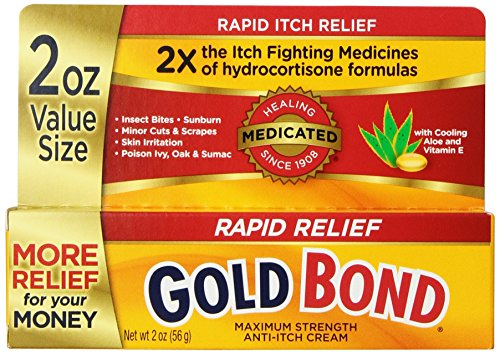Itch Best Cream Anti (Gold Bond Rapid Relief Anti Itch Cream, 2 oz)