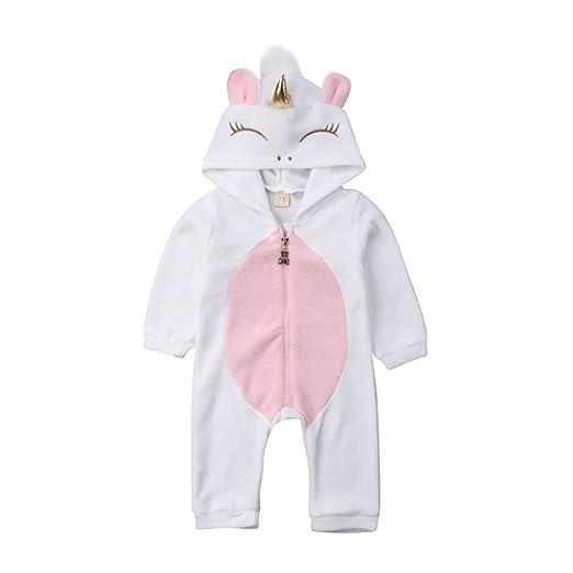 7a8d7a973 Amazon.com  Newborn Baby Girls 3D Unicorn Angel Wings Hooded Zipper ...