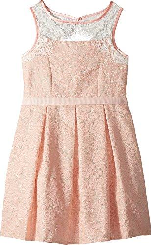 US Angels Girl's Sleeveless Brocade Dress (Big Kids) Blush 7