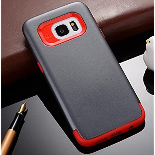 GalaxyS7 Edge Armor Shell, Cool Hard PC Utralight Slim Anti-Scratch Awesome Cover, OMORRO New Fashion 2 In 1 Hybrid Sales