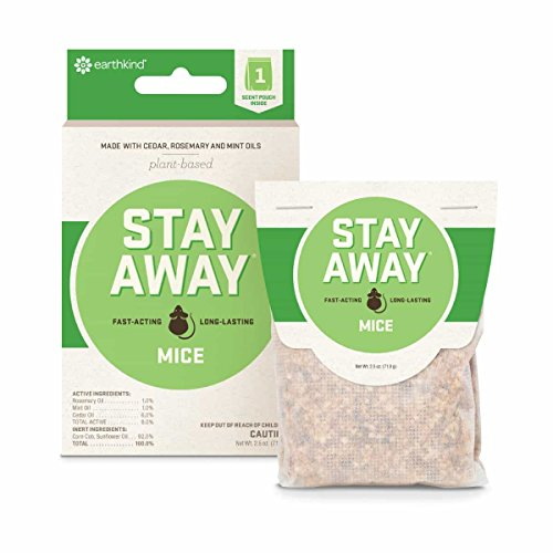 Stay Away Mice Repellent Pest Control Scent Pouches, All Natural - Repels Mice with No Mess and Environmentally Safe - 1 Pouch