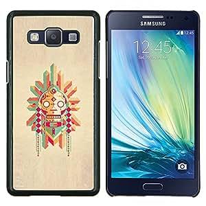 LECELL--Funda protectora / Cubierta / Piel For Samsung Galaxy A5 A5000 -- Polo nativo Dibujo estadounidense --