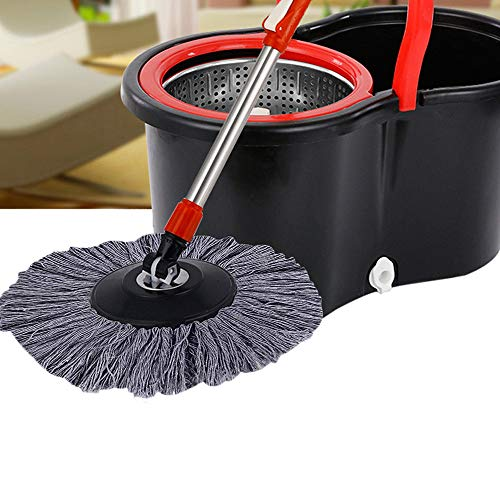 - Miklan Replacement 360 Rotating Head Easy Magic Microfiber Spinning Floor Mop Head, Bucket Floor Cleaning System (Gray)