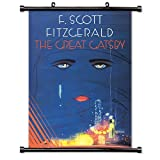 The Great Gatsby (F. Scott Fitzgerald) Fabric Wall Scroll Poster (32 x 46) Inches