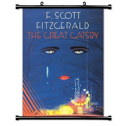 The Great Gatsby (F. Scott Fitzgerald) Fabric Wall Scroll Poster (32 x 46) - Gatsby Frame Great