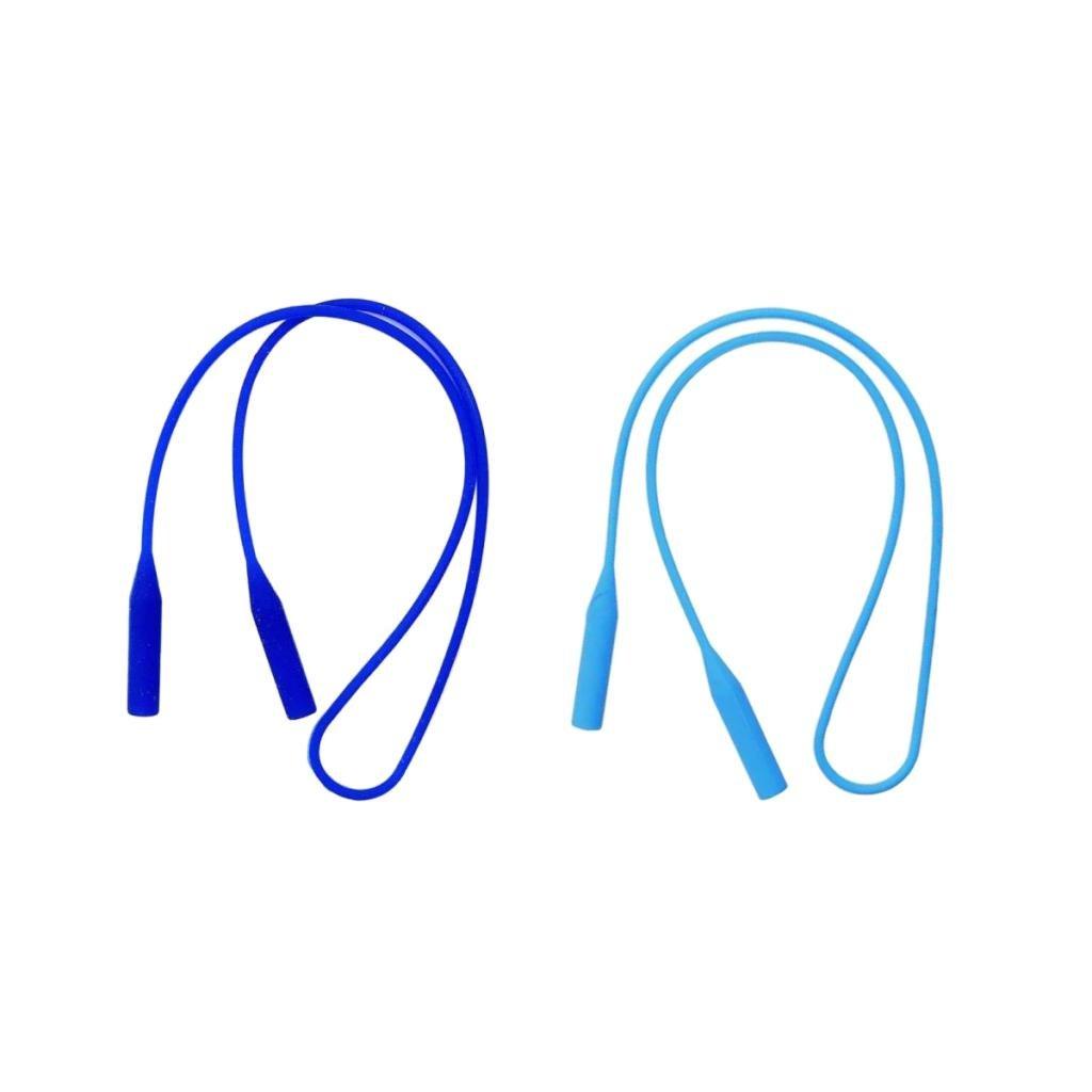 Baoblaze 2 Piezas Cintas de Silicona Accesorios para Gafas de Lectura Anti perdida de Azul Francia Azul Cielo