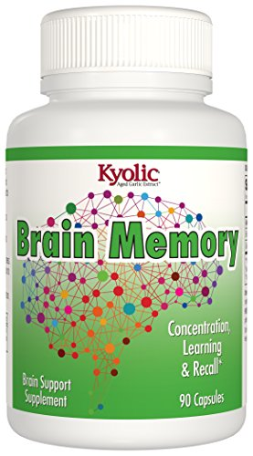 Kyolic Aged Garlic Extract Ginkgo Biloba Plus Brain Memory Supplement (90-Capsules)
