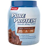 PURE PROTEIN Rich Chocolate Whey Protein, 25.6 Ounce
