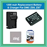 Extended Replacement Panasonic DMW-BCG10 (1200 mAH) Lithium-Ion Battery + Rapid AC/DC 110/220 Travel Charger Battery Kit For Panasonic Lumix DMC-ZS7 DMC-ZS10, DMC-ZS8