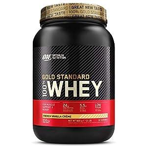 Optimum Nutrition Gold Standard 100% Whey Protéine en Poudre avec Whey Isolate, Proteines Musculation Prise de Masse…