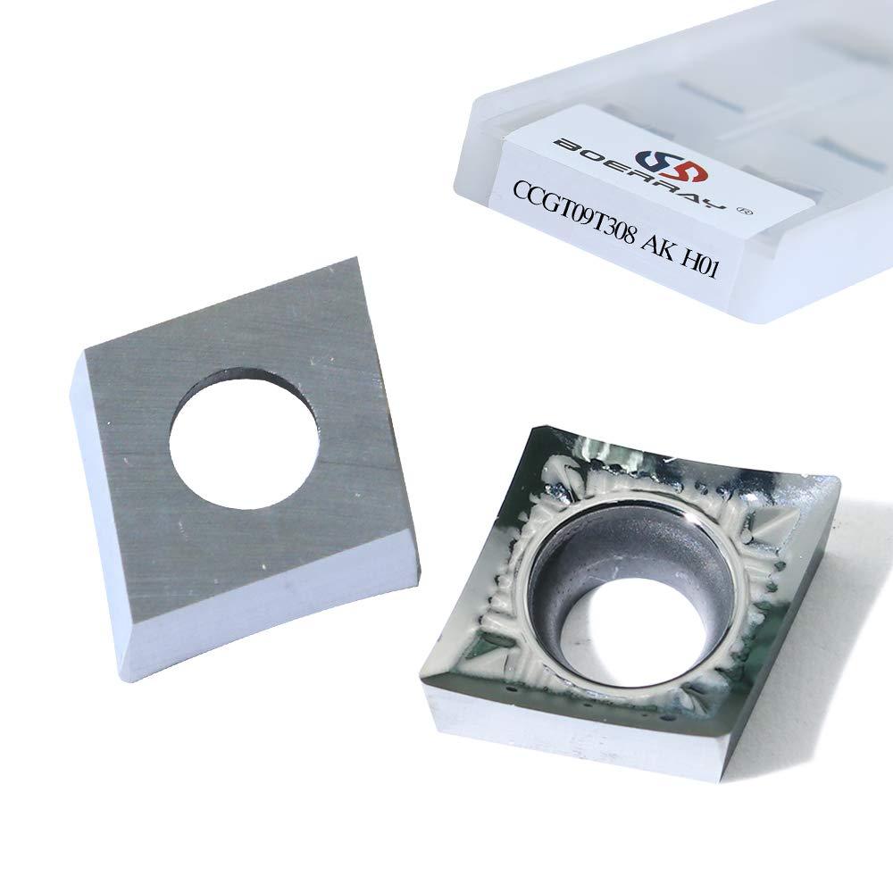 Boeray CCGT09T306 D01 Aluminum Carbide Insert CNC Lathe Cutting Tools, Insert SCLCR/SCFCR