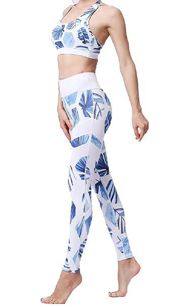 Amazon.com: Juego de 2 leggings de sujetador deportivo, para ...