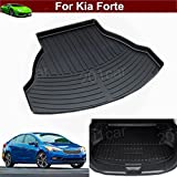 Hot Sale 1pcs Leather Car Boot Liner Rear Trunk Pretect Mat Trunk Tray Trunk Cargo Liner Mat Cargo Tray Floor Mat Custom Fit For Kia Forte 2013 2014 2015 2016 2017
