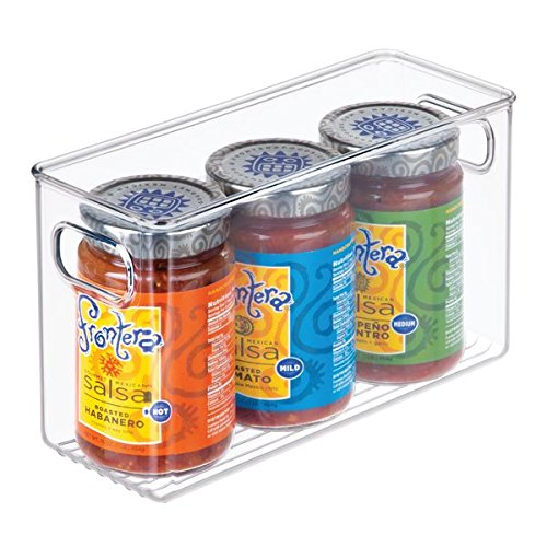 mDesign Refrigerator, Freezer, Pantry Cabinet Organizer Bins for Kitchen - Pack of 4, 10'' x 4'' x 6'', Clear by mDesign
