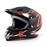Youth Dirt Bike Motocross Helmet Compact and lightweight off-road helmet (Large, Dumb Dragon)
