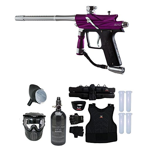 MAddog Azodin Blitz 3 Starter Protective HPA Paintball Gun Package - Purple