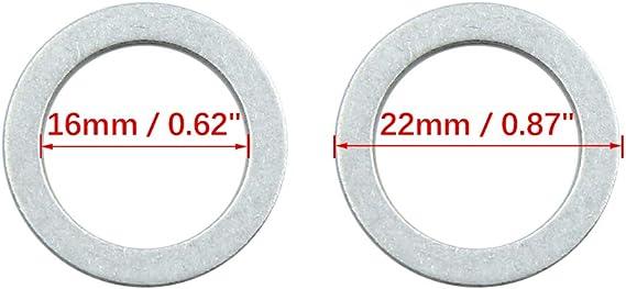 X AUTOHAUX Lot de 10 Joints de Bouchon de vidange pour Huile Moteur 14 mm ID 22 mm OD.