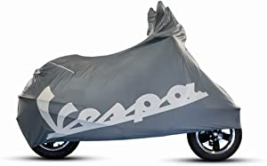 Vespa GTS Original Indoor Scooter Cover for Vespa GTV, Vespa GT Vespa GT L Vespa GT60 Indoor Scooter Cover, Genuine Vespa GTS Vespa GTS Super OEM 606334M (Gray)