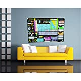 Shutter Waves Professional Periodic Table of Elements Chart - 2018 ELITE Edition - Best Gift for Scientist Classrooms Library (20x30 inch Styrene with Wall Standoffs)