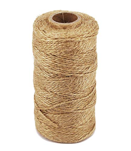 Twin Rope - TIAMALL 300 Feet Natural Jute Twine Gift Twine String Packing String