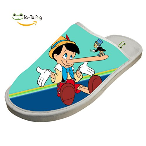 Flat Cartoon White Slippers Shoes Slippers Cotton ZeZe Pinocchio Slippers Indoor House UqWS1