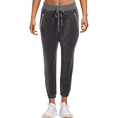 56695af1fa0 Juicy Couture Black Label Womens Silverlake Velour Jogger Track Pants Gray  L  Amazon.co.uk  Clothing