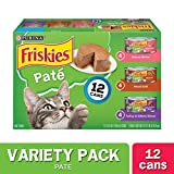 Purina Friskies Pate Wet Cat Food Variety Pack - Salmon - Turkey & Grilled - (2 Packs of 12) 5.5 oz. Cans