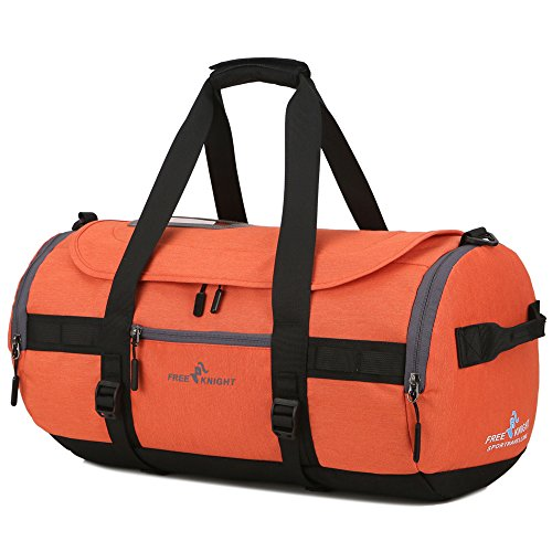 Package Shoulder Bag Portable Backpack Large Lightweight Orange Waterproof Luggage Travel Capacity Hiking fZAwq5B